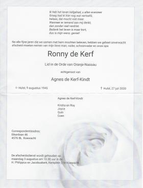 Overlijdensbericht Ronny